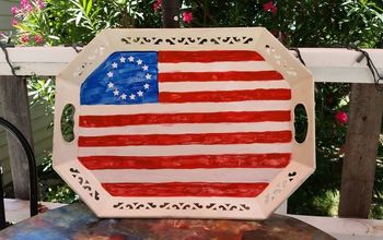 Patriot Metal Tray  Flag  With Unicorn  Spit