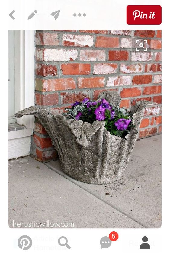 q towel flower pot, container gardening, crafts, gardening, I made one like this now I don t know how to release the bucket