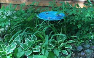 satellite dish to bird bath, gardening, outdoor living, pets animals, repurposing upcycling, Finished bird bath