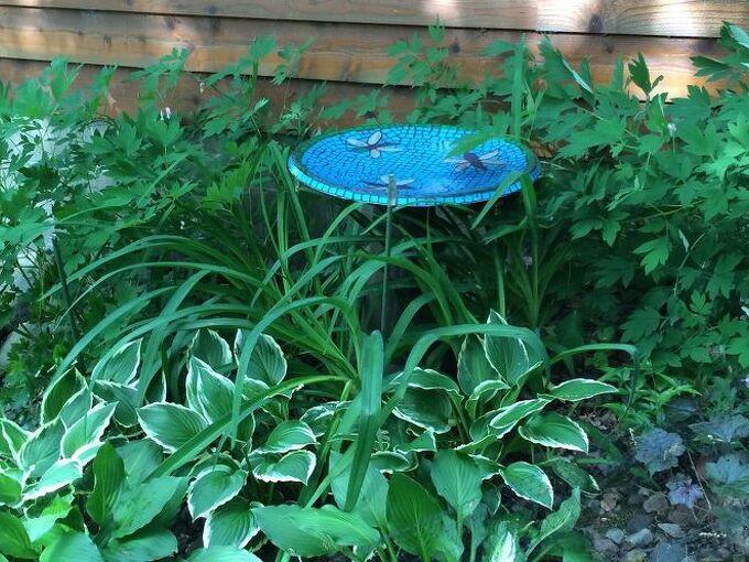 satellite dish to bird bath, gardening, outdoor living, pets animals, repurposing upcycling, Finished bird bath