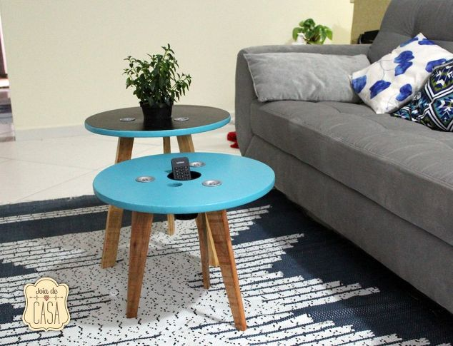 Old Spool Cable Table Design   Hometalk