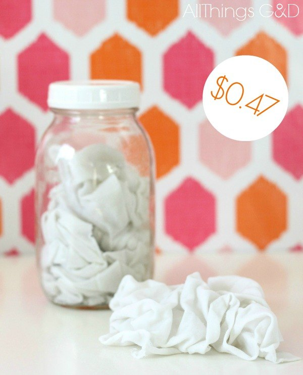 s 12 green cleaning tricks that will actually save you time money, cleaning tips, Turn old t shirts into 47 cent reusable wipes