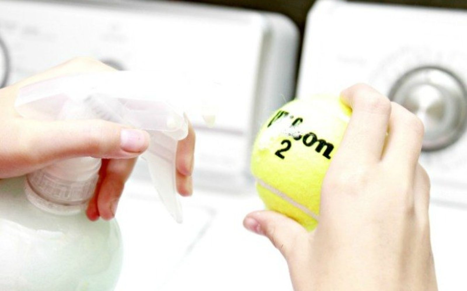 s 12 green cleaning tricks that will actually save you time money, cleaning tips, Turn old balls into scented dryer balls
