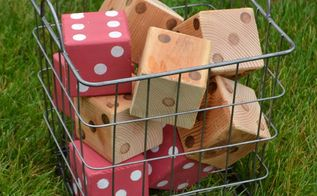 make lawn dice, outdoor living, woodworking projects