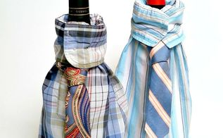 how to make dress shirt and tie wine bottle gift bags, christmas decorations, repurposing upcycling, seasonal holiday decor