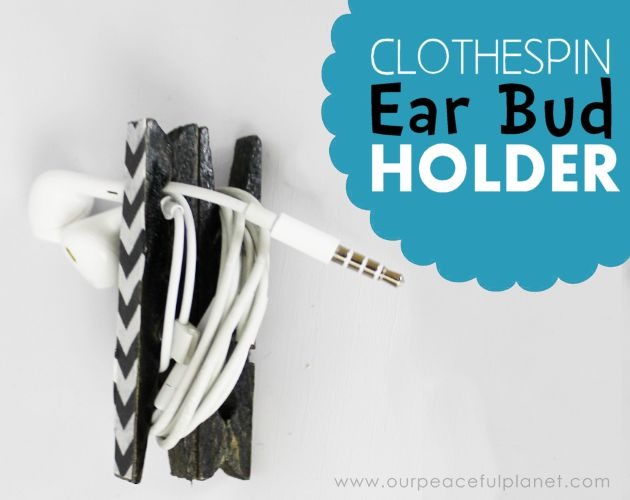 earbud holders no more tangles , crafts, organizing, repurposing upcycling