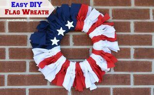 easy diy flag wreath, crafts, diy, patriotic decor ideas, wreaths