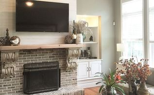a dreamy fireplace , fireplaces mantels, home improvement, Finished product