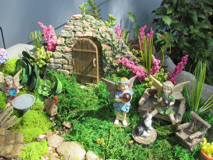 Creating a Fairy Garden Out of a Old Cement Flower Urn