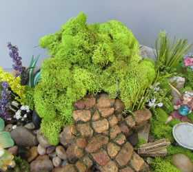 Creating A Fairy Garden Out Of A Old Cement Flower Urn , Concrete Masonry,  Crafts