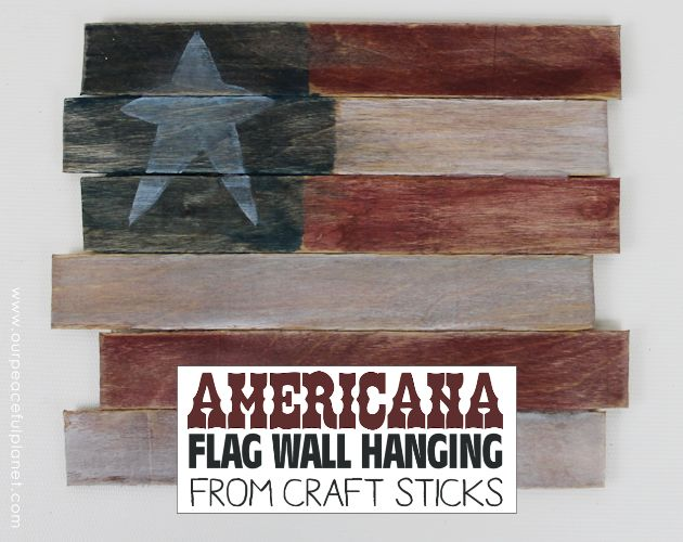 americana decor from craft sticks, crafts, patriotic decor ideas, seasonal holiday decor