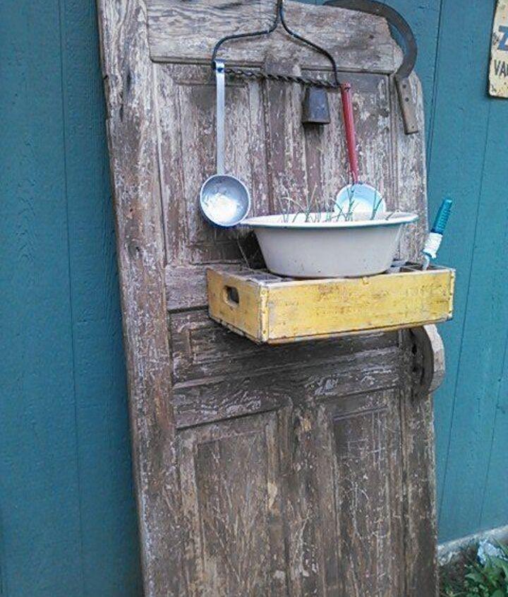 new life for an old farm door, doors, gardening, outdoor living, repurposing upcycling