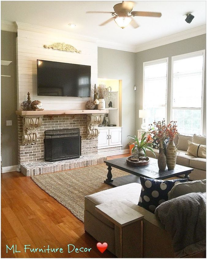 a dreamy fireplace , fireplaces mantels, home improvement