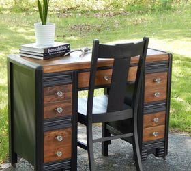 Painted Stained Waterfall Desk, Painted Furniture