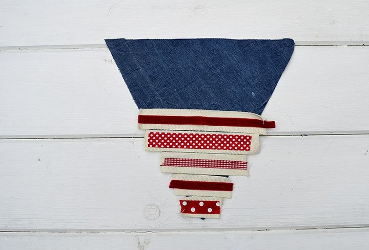 upcycled denim bunting 2 ways, crafts, how to, patriotic decor ideas, repurposing upcycling, seasonal holiday decor