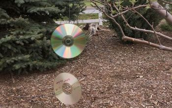 Repurposed CDs = Get Rid of Critters & Beautiful Wind Spinner