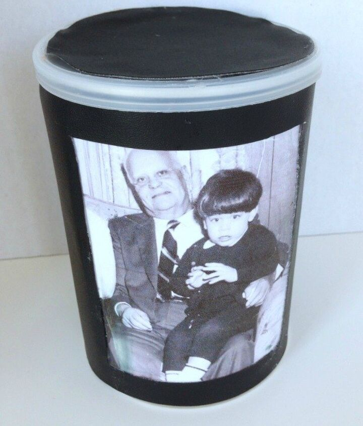 personalized recycled container keepsake for father s day, crafts, organizing, repurposing upcycling, seasonal holiday decor, storage ideas