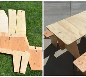Painted Puzzle Picnic Tables 3 Fun Summer Ideas, Painted Furniture,  Woodworking Projects