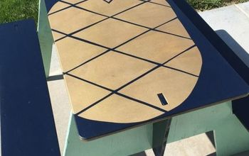 Painted Puzzle Picnic Tables-3 Fun Summer Ideas