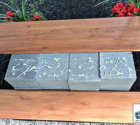 Diy Wood And Cinder Block Bench, Outdoor Furniture