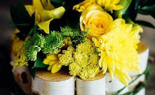 diy birch flower arrangement, flowers, gardening, how to