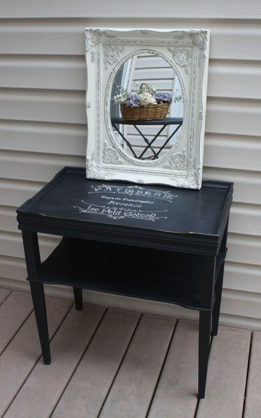 painted mirror with chalk paint and petroleum jelly, chalk paint, diy, home decor, painting