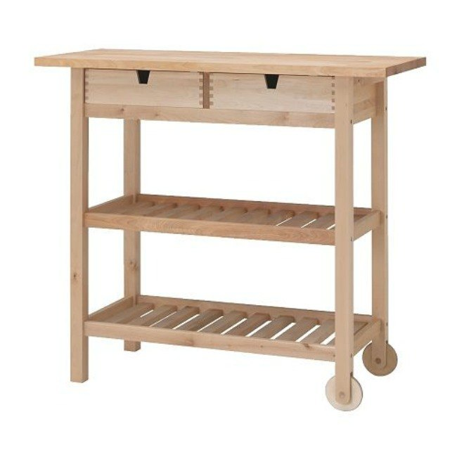 ikea kitchen cart makeover, chalk paint, kitchen design, kitchen island, painted furniture, repurposing upcycling