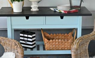 ikea kitchen cart makeover, chalk paint, kitchen design, kitchen island, painted furniture, repurposing upcycling