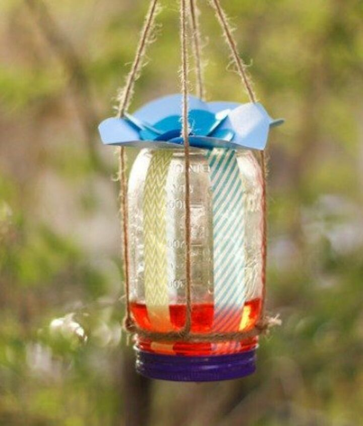 s 10 amazing ways to attract hummingbirds to your garden, gardening, pets animals, Craft a feeder with a mason jar a sponge