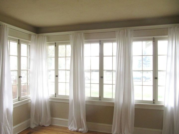 s 9 brilliant home hacks using twin sized sheets, home decor, repurposing upcycling, Make inexpensive basic window curtains