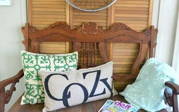 settee makeover with barn wood, diy, outdoor living, rustic furniture