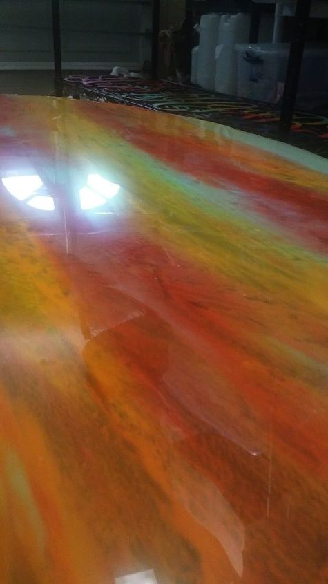 busted to beautiful a unicorn spit table transformation , painted furniture