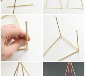 how to make gold diy geometric sculptures for free hometalk