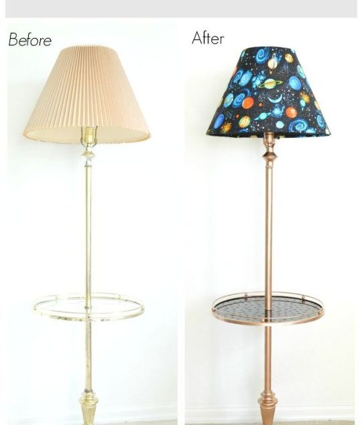 floor lamp makeover, flooring, lighting