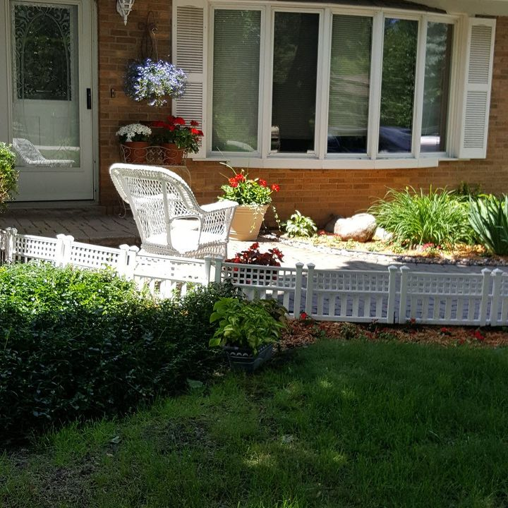 Curb appeal idea a little white fence hometalk curb appeal idea a little white fence curb appeal fences gardening landscape mightylinksfo