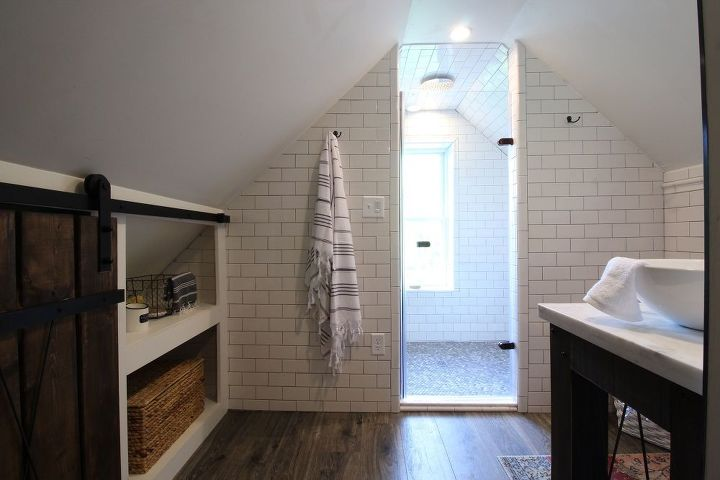 Industrial Chic Attic Bathroom Renovation | Hometalk