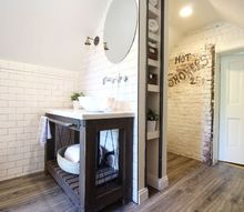 industrial chic attic bathroom renovation, architecture, bathroom ideas, home decor