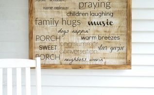 diy porch sign, crafts, outdoor living