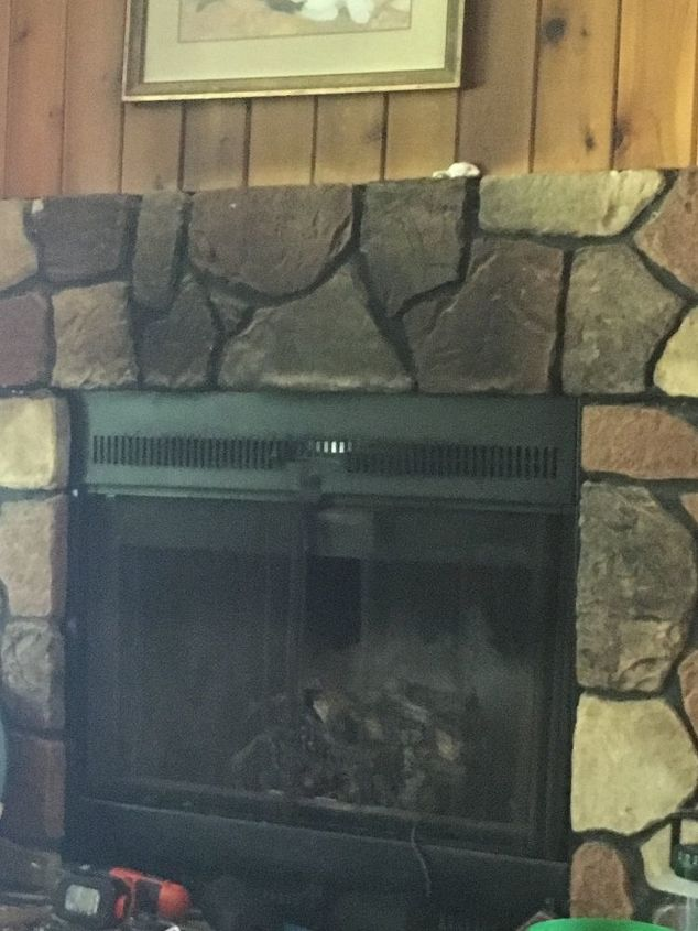 How To Clean Faux Fireplace Large Stones Hometalk