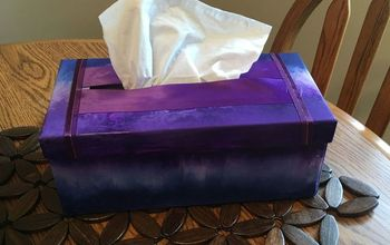 unicorn spit custom color tissue box, crafts, storage ideas