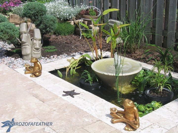 Backyard Water Feature Diy most people plant flowers in their backyard, but these homeowners