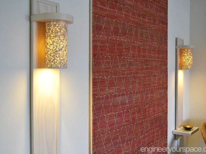 small living room lighting ideas how to make a wall lamp sconce, home decor, how to, lighting, living room ideas