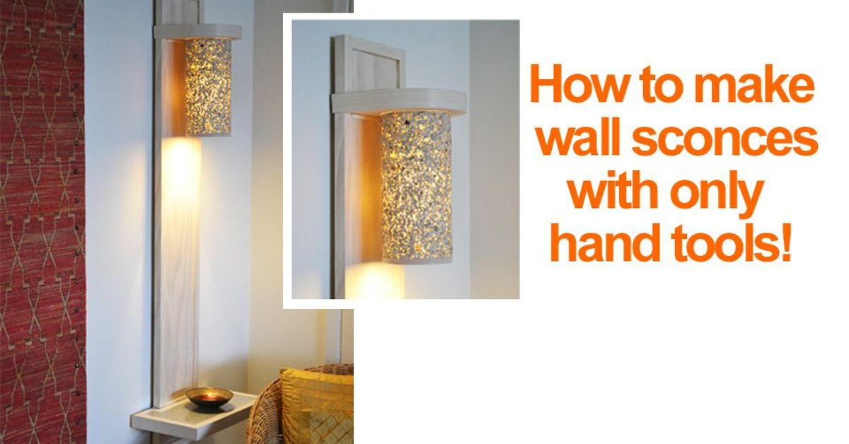 Small Living Room Lighting Ideas: How to Make a Wall Lamp/sconce ...