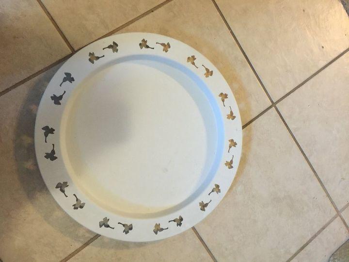 q huge ikea platter, repurpose household items, repurposing upcycling