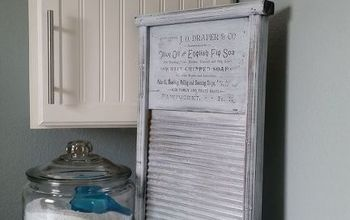 DIY Printed Vintage Sign Transfer to Washboard for $5 - Tutorial