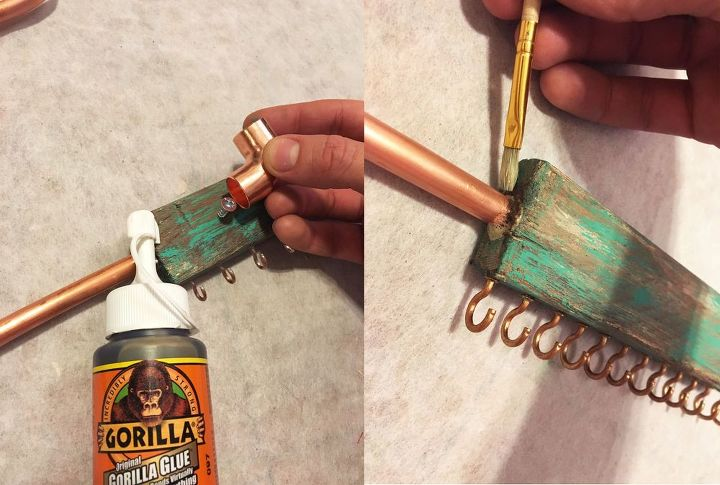 rustic wood and copper jewelry hanger, crafts, home decor, how to, organizing