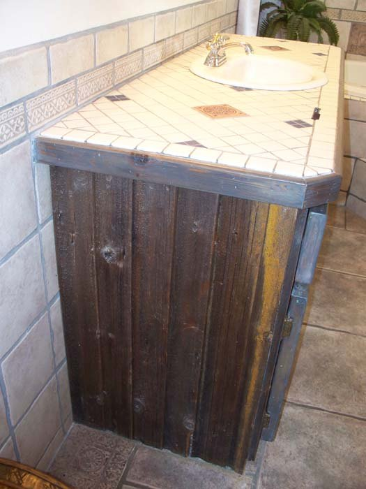 ugly barn wood cabinets get an elegant make over, painted furniture, woodworking projects