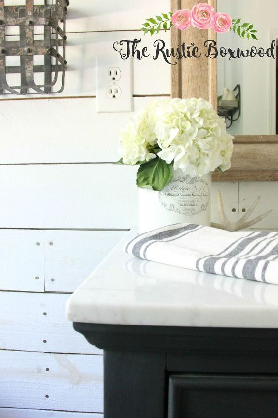 adding touches of farmhouse charm to the bathroom, bathroom ideas, home decor, rustic furniture