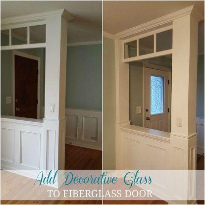 How To Make Your Own Decorative Gl Front Door Diy Doors