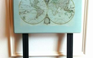 painted tv tray with image transfer, decoupage, painted furniture